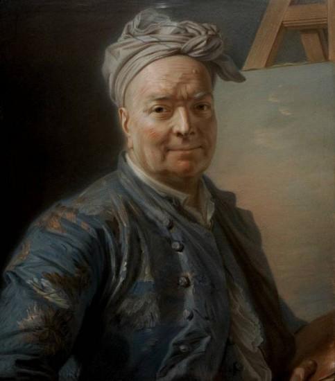 Maurice-Quentin de la Tour, Louis de Silvestre le jeune 1732, Pastel