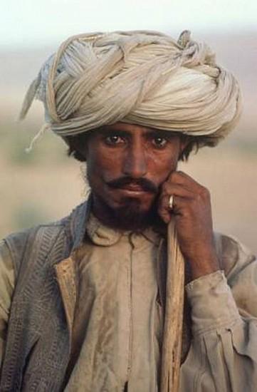 Steve McCurry, The Farmer, Baluchistan, Pakistan 1980, Cibachrome print (color)