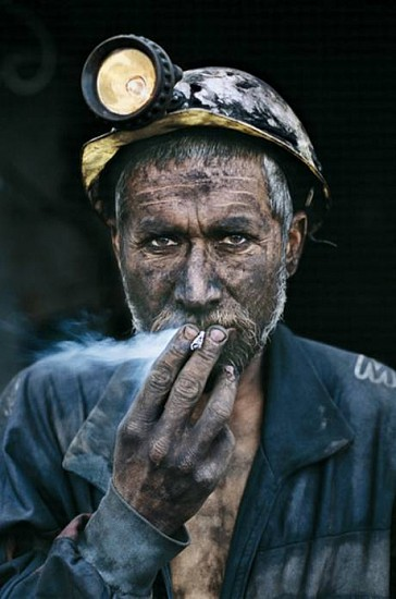 Steve McCurry, Smoking Coal Miner Unknown, Cibachrome print (color)