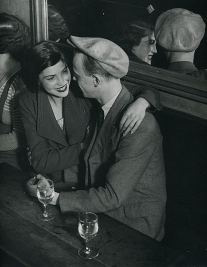 Brassai, Lovers, Place D'Italie 1932, Ferrotyped vintage silver gelatin silver print