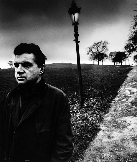 Bill Brandt, Francis Bacon Walking on Primrose Hill, London 1963; Printed c. 1963, Gelatin silver print (black & white)