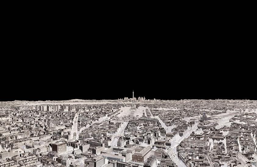 Andre Lichtenberg, Paris, Eiffel Tower, La Defense -- Within Series 2014; printed 2016, Chromogenic print