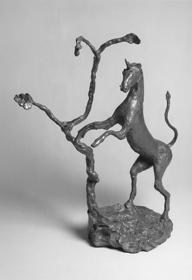 Barry Flanagan, Unicorn and Oak Tree 1989, Bronze